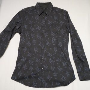 Diesel Slim Fit Floral Button Up Shirt Medium